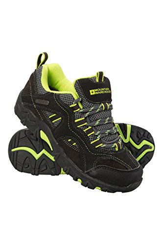 Image of Mountain Warehouse Stampede Kids Walking Shoes -Childrens Summer Shoes Lime 4 Child US