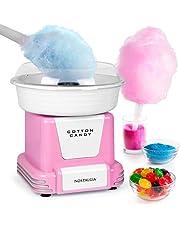 Nostalgia PCM805PNK Retro Hard Free Countertop Original Cotton Candy Maker, Includes 2 Reusable Cones and Sugar Scoop, Pink