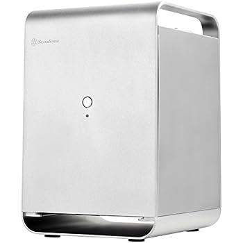 SilverStone Technology Mini-ITX NAS Case Storage Aluminum Computer Silver CS01S-HS