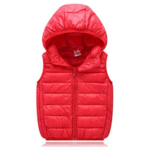 Inlefen Niños niños niñas algodón outwear chaleco otoño e invierno ligero transpirable cálido moda niño a prueba de...