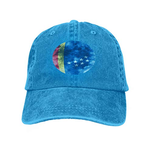 Adult Grid Baseball Caps Unisex Sunshade Hat Mesh Hat Snapback Cap Durham City Smoke Flag North Carolina State United States am Blue -