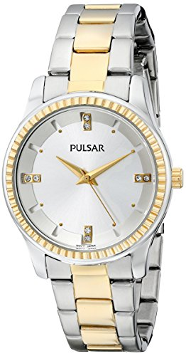 Pulsar Women's PH8100 Easy Style Collection Analog Display Japanese Quartz Silver Watch