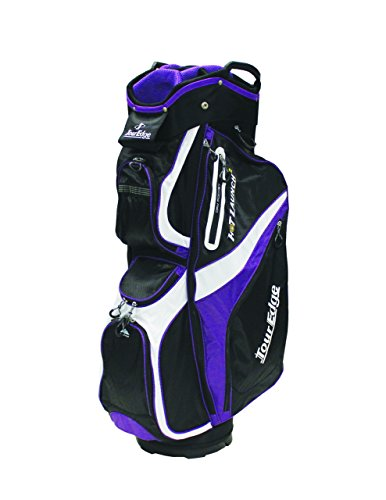 Tour Edge Golf Hot Launch 2 Cart Bags (Men's, Hot Launch 2 Cart Bag Purple/Black/White Lady), Black/White/Purple Womens Golf Cart Bag