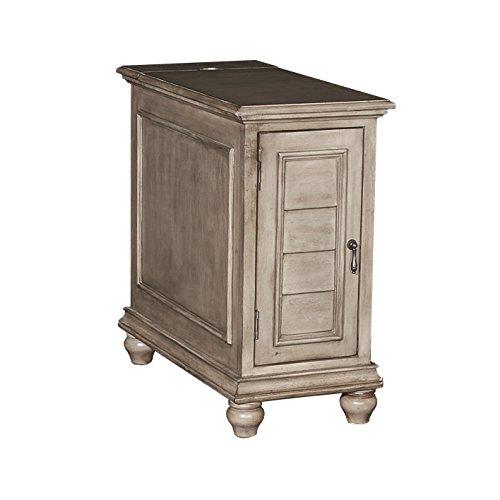 Powell's Furniture 16A8257G Olsen Grey Shutter Cabinet,
