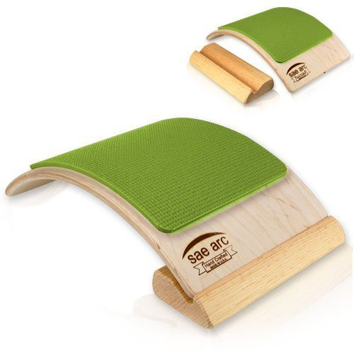 Spine Stretching Equipment - Two in One Back & Lumbar Stretcher (Green) by SENYX by SENYX