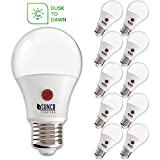 Sunco Lighting 10 Pack A19 LED Bulb with Dusk-to-Dawn, 9W=60W, 800 LM, 3000K Warm White, Auto On/Off Photocell Sensor - UL