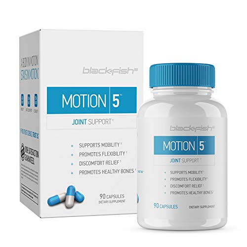 Glucosamine Chondroitin MSM Vitamin D3 - Joint Support   Bone Density   Flexibility Supplement by Blackfish5 - Improve Your Mobility Within 6 Weeks