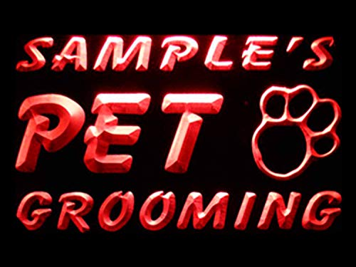 ADVPRO Name Personalized Custom Pet Grooming Paw Print Bar Beer Neon Light Sign Red 16x12 inches st4s43-qq-tm-r