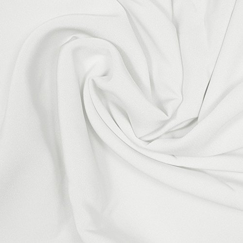 4 Ply Silk Fabric - Silk Stretch 4 Ply Crepe Off White Fabric