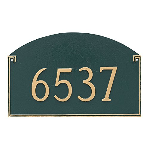 - Montague Metal Georgetown Estate One Line Address Sign Plaque, 16.5