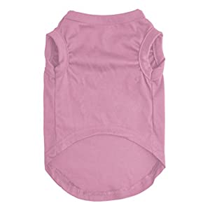 EXPAWLORER Princess Fashion Pet T-Shirt Small Dog Cat Vest Clothes Puppy Costumes for Chihuahua Yorkshire Terrier Pink L
