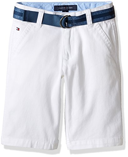 Tommy Hilfiger Big Boys' Dagger Stretch Twill Short, White, 16