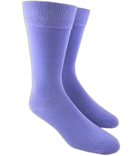 The Tie Bar Lavender Solid Cotton Blend - Womens Socks Lavender