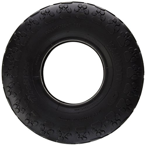 TireBiters Large Chew Toy, Black, 10-Inch Chew Tire
