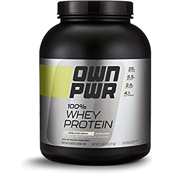 OWN PWR 100% Whey Protein Powder, Vanilla Ice Cream, 5 lb