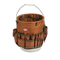 The world's first bucket organizer, the original Bucket Boss. Fits any 5 gallon bucket, providing instant organization with 30 pockets for tools and 3 interior loops for hammers and pry bars, all while keeping the bucket center open for bulk ...