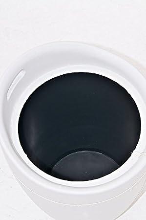 Negro CLP Taburete Almacenaje Alice En Cuero PU I Taburete Multifunci/ón Acolchado I Taburete Cesta Moderna I Taburete De Ba/ño Asiento Redondo I Color