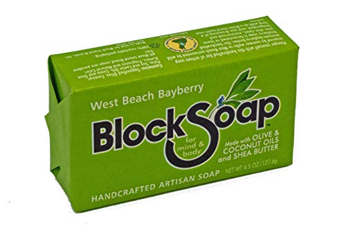 Bayberry Artisan Bar Soap with Sea Salt, Olive Oil, Coconut Oil and Shea Butter (4.5oz)