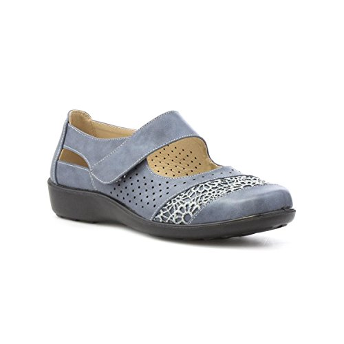 Soft-lites Donna Blu Pizzo Vamp Bar Scarpa Casual Blu