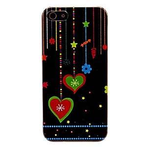 Procesamiento de dos días -Caso duro del patrón en forma de corazón para el iphone 5/5s