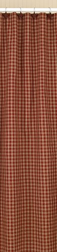 Park Designs Sturbridge Shower Curtain, 72 x 72, Wine (Shower Curtain Plaid Red)