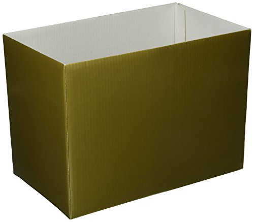 Gold Metallic Solid Color Gift Basket Box -