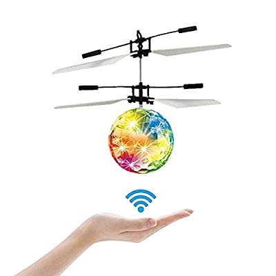 LSD Flying Ball Toys,UFO Toys-RC Flying Ball -- Kids Boy Toys Flying Toys Hand Controlled Drone LED Lighting, Kids Toys for Boys Girls Outdoor and Indoor Use: Toys & Games