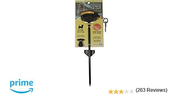 00248501f62a Amazon.com : LIXIT RETRACTABLE CABLE TIE OUT STAKE, SMALL : Retractable  Leash On Stake : Pet Supplies
