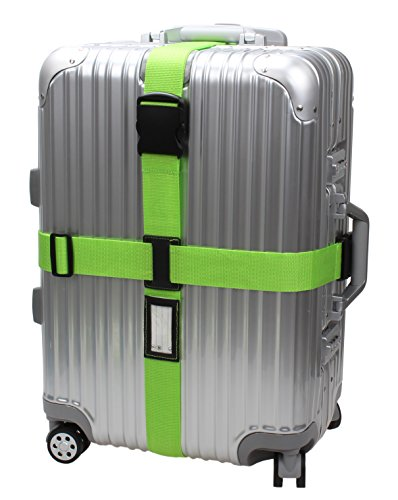 - Cross Luggage Strap Adjustable Suitcase Belt Travel Accessories 1Pack #L170 (1Green)