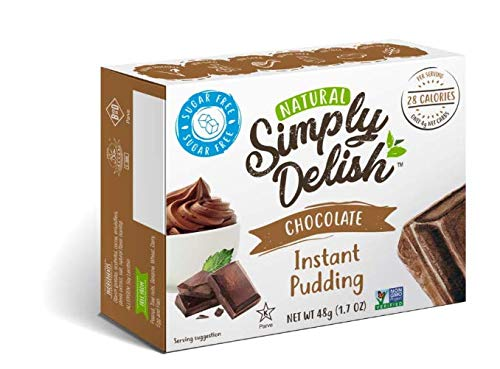 Simply Delish Natural Instant Chocolate Pudding - Sugar Free, Non GMO, Gluten Free, Fat Free, Lactose Free, 1.7 OZ (Pack of 1) ()