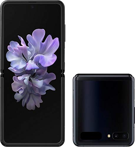 🥇 Samsung Galaxy Z Flip Factory Unlocked Cell Phone |US Version – Single SIM | 256GB of Storage | Folding Glass Technology | Long-Lasting Battery | US Warranty | Mirror Black