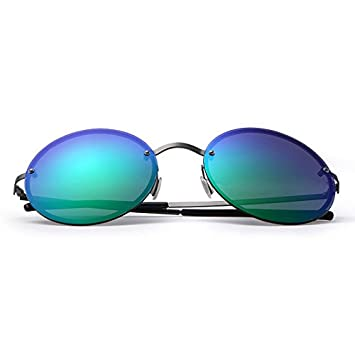 Gafas Ultra-light 17g gafas de sol polarizadas unisex redonda lente de degradado anti-