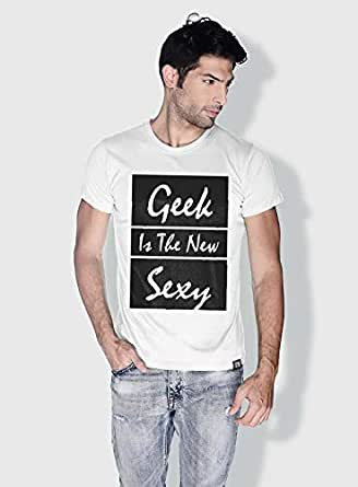 Creo Geek Is The New Sexy Funny T-Shirts For Men - L, White