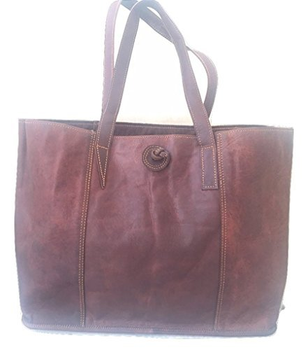 Handmade Vintage Genuine Classic Womens Tote Bag for Laptops up to 15.6 Inches,