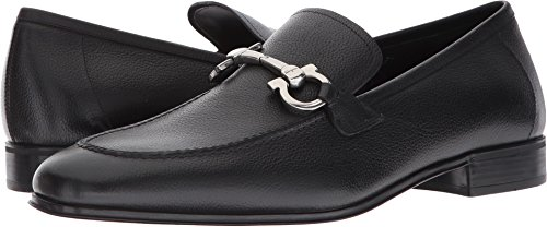 Salvatore Ferragamo  Men's Flori Moccasin Black Shoe
