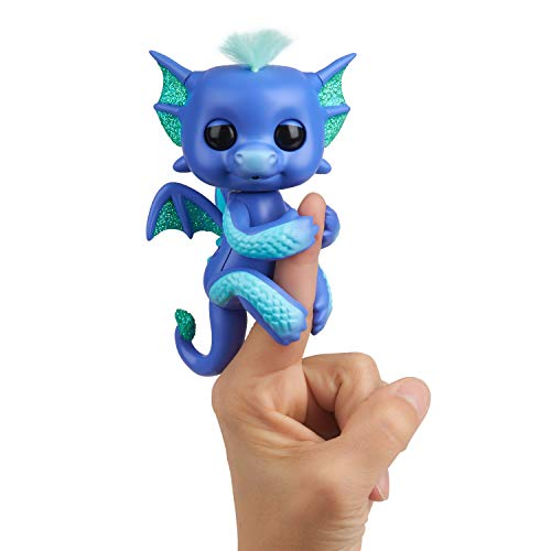 WowWee 3587 Fingerlings Interactive Baby Dragon Luna Toy, Purple/Turquoise ()