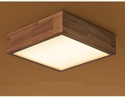 Plaza Log inteligente lámpara madera maciza techo lámpara ...