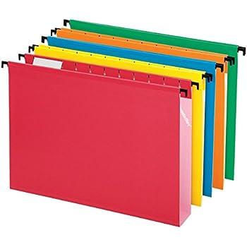 Pendaflex SureHook Extra Capacity Reinforced Hanging Folders, Letter Size, Assorted Colors, Total of 20 Folders per Box (6152X2 ASST)