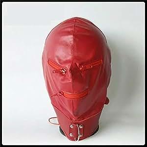 Amazon.com: New Latest Pu Leather Bondage Hood Headgear