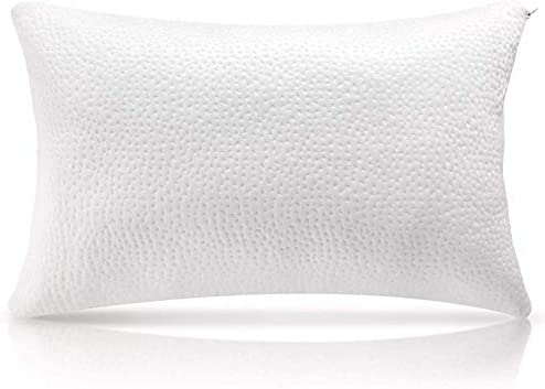 Shredded Memory Foam Pillow Cooling Bed Pillows for SleepingWashable Removable Pillowcase for Side Back Sleepers - Queen