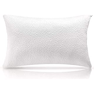 Milemont Shredded Memory Foam Pillow Cooling Bed Pillows for Sleeping with Washable Removable Pillowcase for Side Back Sleepers - Queen