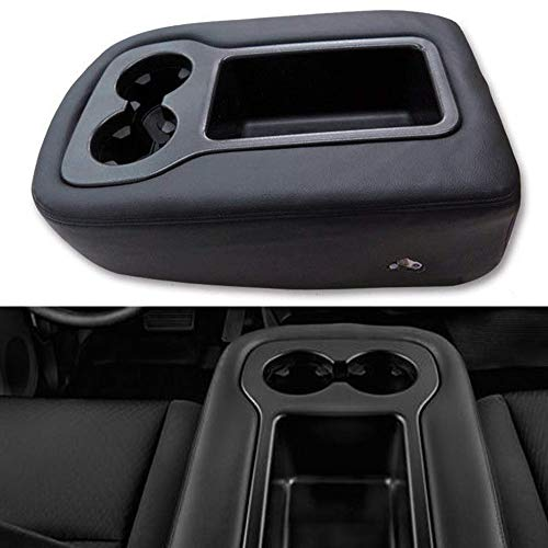 Issyzone Leather Center Console Cover for Chevy Silverado Tahoe GMC Sierra Jump Seat Armrest Cover