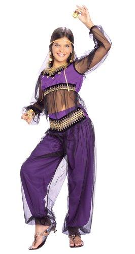 Girls Harem Princess Belly Dancer Costume - Child Large