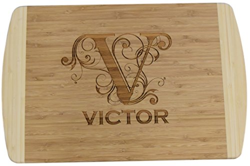 Extra Large - Personalized / Custom Engraved Bamboo Cutting /