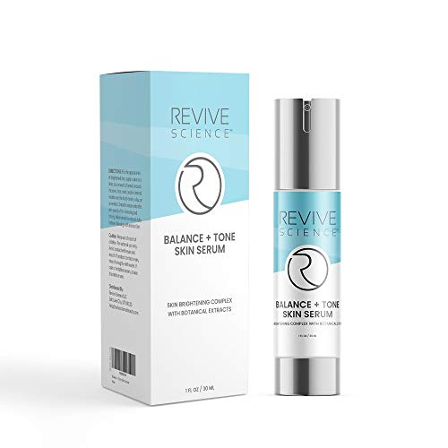 416fobf2iKL - Revive Science Balance + Tone Skin Serum, Anti Aging Dark Spot Corrector Face Cream to Smooth & Lighten Skin, Fade Scars, Remove Age Spots & Brighten Glow for Men & Women, 1 oz
