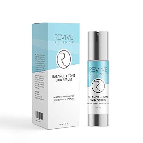 416fobf2iKL - Revive Science Balance + Tone Skin Serum, Anti Aging Dark Spot Corrector Face Cream to Smooth & Lighten Skin, Fade Scars, Remove Age Spots & Brighten Glow for Men & Women, 1 oz