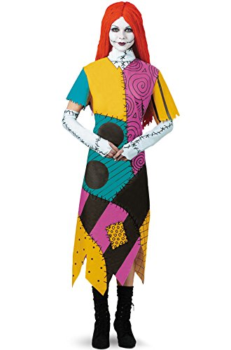 Halloween Costumes For Pale People (Disguise Women's Disney Nightmare Before Christmas Sally Classic Costume, Yellow/ Red/ Black/ Green,)