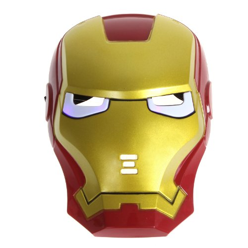 Kingzer Iron Man Mask for Halloween Masquerade Cosplay Carnival Party Makeup
