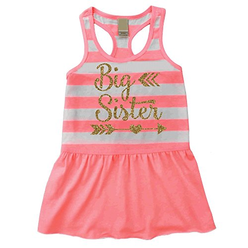 Big Sister Dress, Baby Girl Clothes, Big Sister Outfit Summer Tank Dress (24 Months)