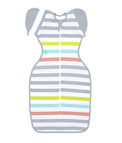 Price comparison product image Love to Dream Swaddle UP 50 / 50 Lite,  Multi Stripe,  Medium,  13-18.5 lbs